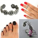 925 Silver Adjustable Daisy Flower Toe Ring
