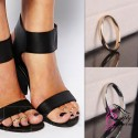 Elegant Adjustable Simple Toe Ring - Gold