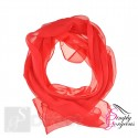 Classic Plain Chiffon Scarf Silk Feel Soft Neck lady Shawl Hijab Scarves - Red