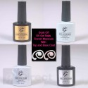 IBN Shellac Gel UV French Manicure inc Top coat and Base Coat
