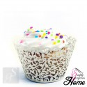 12 X Simply Gorgeous Laser Cut Vine Cupcake Wrappers - Ivory