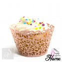 12 X Simply Gorgeous Laser Cut Vine Cupcake Wrappers - Pink