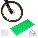 Wheel Stickers Reflective Tape - Green