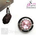 Crystal Hand Bag / Purse Folding Hook Hanger - Light Pink