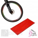 Wheel Stickers Reflective Tape - Red