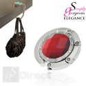 Crystal Hand Bag / Purse Folding Hook Hanger - Red