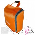 Luxury Hanging Wash Bag - Orange