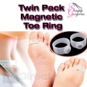 1 Pair Soft Silicone Magnetic Toe Rings - Weight Loss Aid