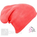 Knitted Woolly Winter Slouch Beanie Hat - Red