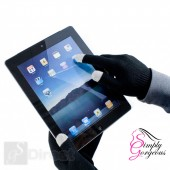 Unisex Winter Touch Screen Gloves For iPhone iPad Smart Phones, Tablets Etc - Black