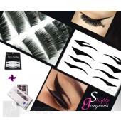 Simply Gorgeous Handmade Eyelashes and Eyeliner Tattoos Combo