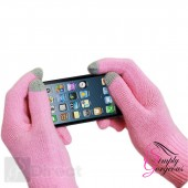 Unisex Winter Touch Screen Gloves For iPhone iPad Smart Phones, Tablets Etc - Pink