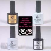 IBN Shellac Gel UV French Manicure inc Top coat and Base Coat