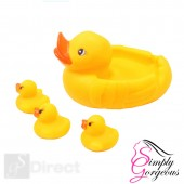 Yellow Bath time Squeaky Rubber Ducks Mum and Babies