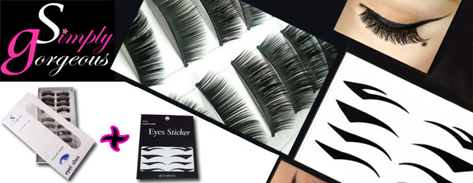 Simply Gorgeous Eyeliner Tattoo & False Eyelash Set